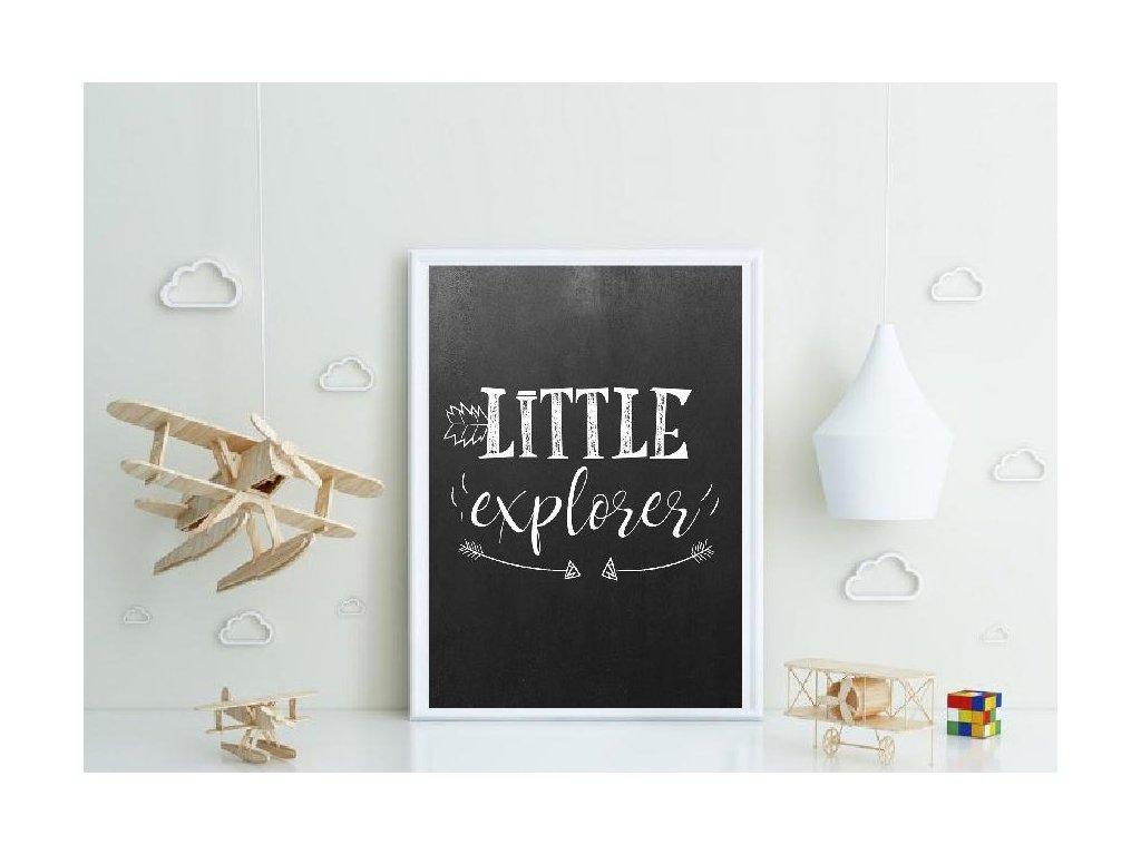 Plakát ,, Little explorer,,