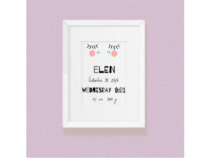 plakát narození miminka