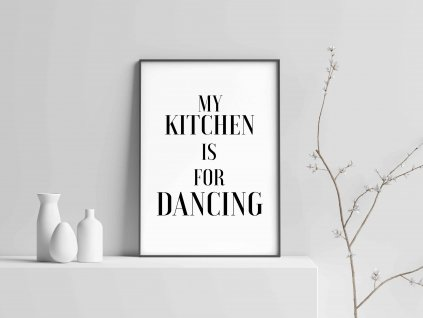 mockup dancing kitchen