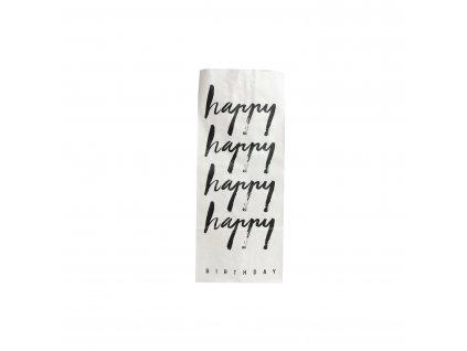 Papirový sáček HAPPY BIRTHDAY
