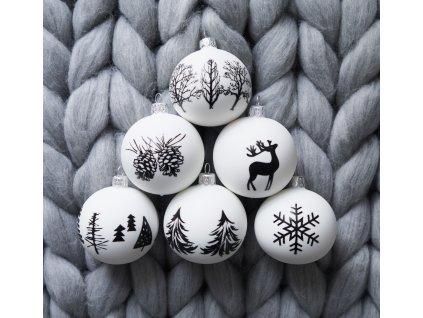 Vánoční ozdoby bílé
