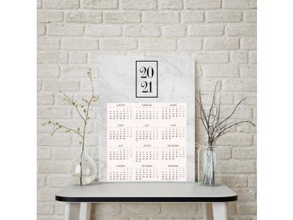 Kalendář 2021 šedý