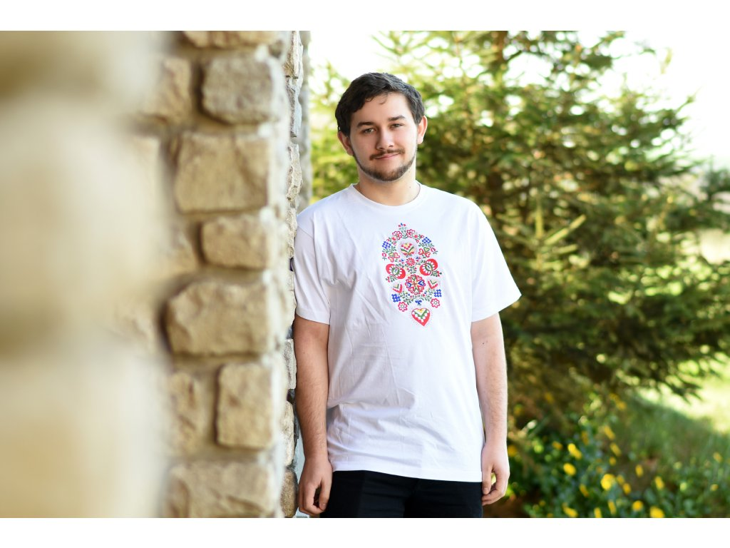 Pánské triko s lidovým motivem - OBRÚČKA