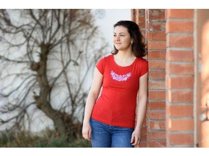 Dámské triko s lidovým motivem - KLÁSEK