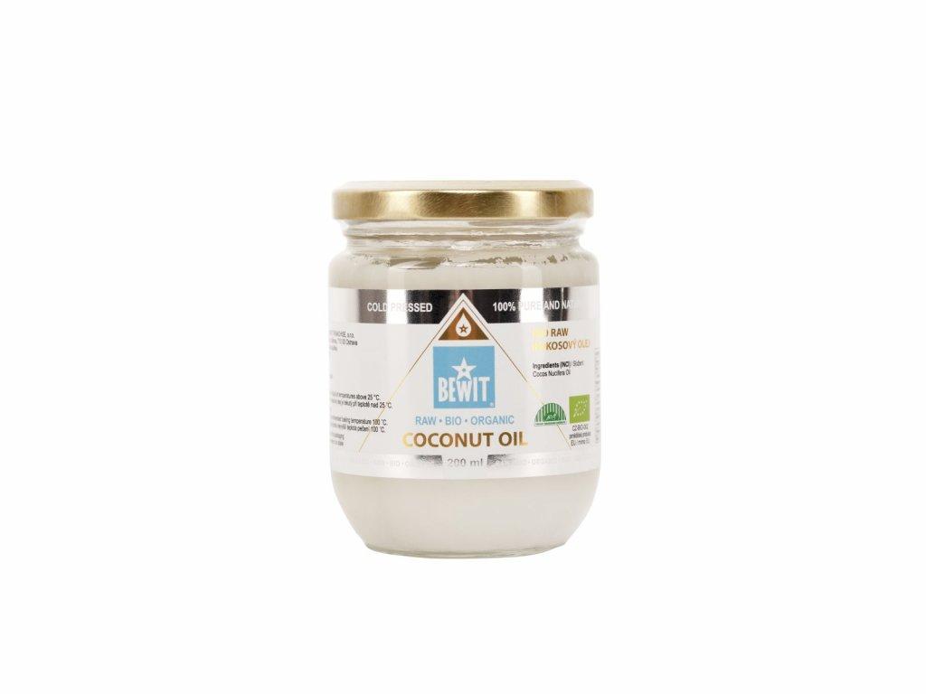 bewit bio raw kokosovy olej extra panensky