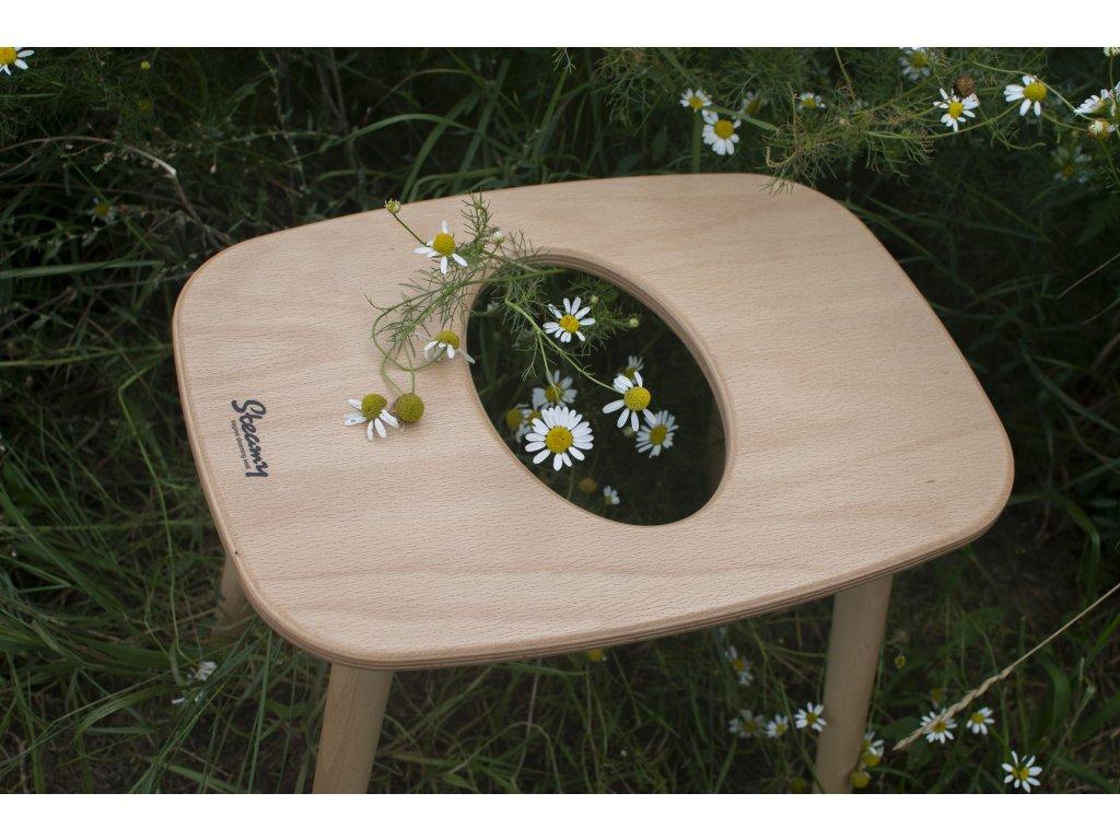 Drevená stolička %22Gazelle%22 na bylinné YONI naparovanie Steamy 6