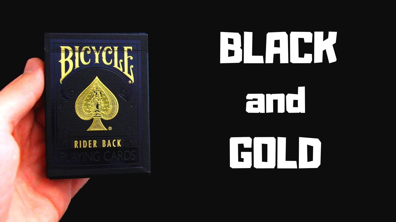 Bicycle - Black and Gold: Elegantní karty