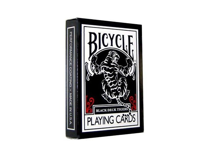 Black Tiger Deck Bicycle Playing Cards Poker Size