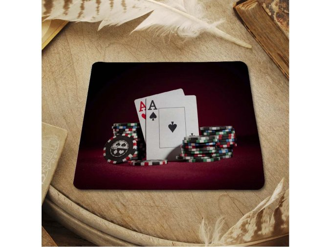 MaiYaCa Hot 2016 Poker mouse pad with edge locking for internet game and office use 25x29cm