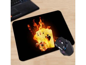 Babaite Customized Mouse Pad Ace Black Background Cards Fire Las Vegas Texas Holdem Poker Computer Notebook 18x22cm