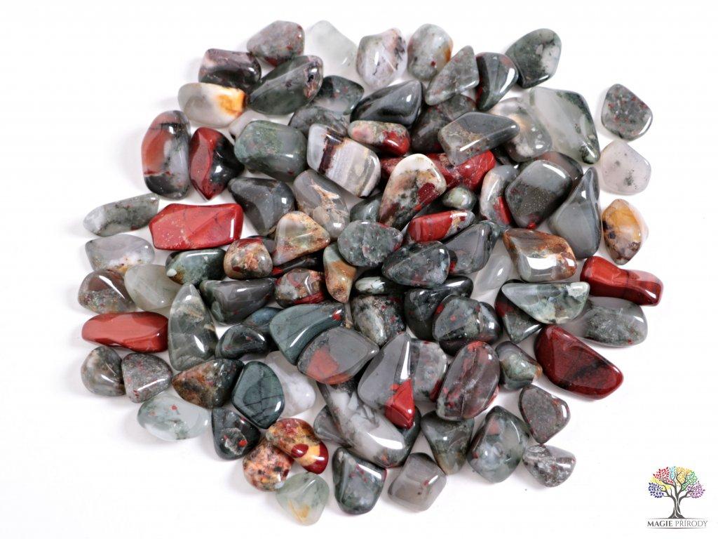 Tromlované kamínky Heliotrop M - kameny o velikosti 20 - 40 mm - 1kg - Afrika