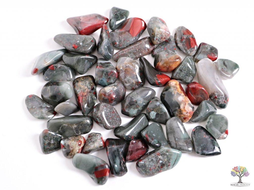 Tromlované kamínky Heliotrop L - kameny o velikosti 30 - 45 mm - 1kg - Afrika