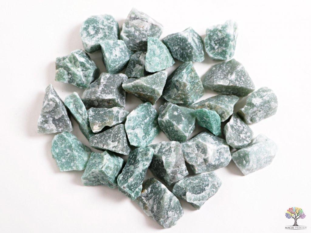 Avanturin zelený surový 1 ks -  velikost 3 - 7 cm  + až 10% sleva po registraci