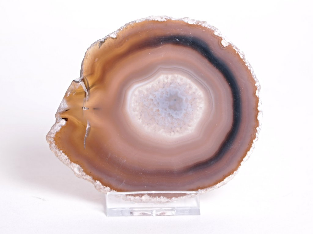 Achátový plát velikost 10 cm + stojánek - Top kvalita - 55