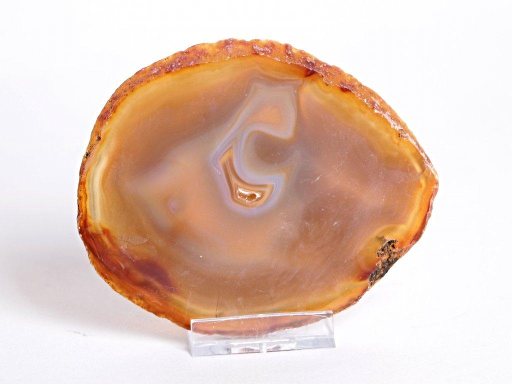 Achátový plát velikost 10 cm + stojánek - Top kvalita - 56  + až 10% sleva po registraci