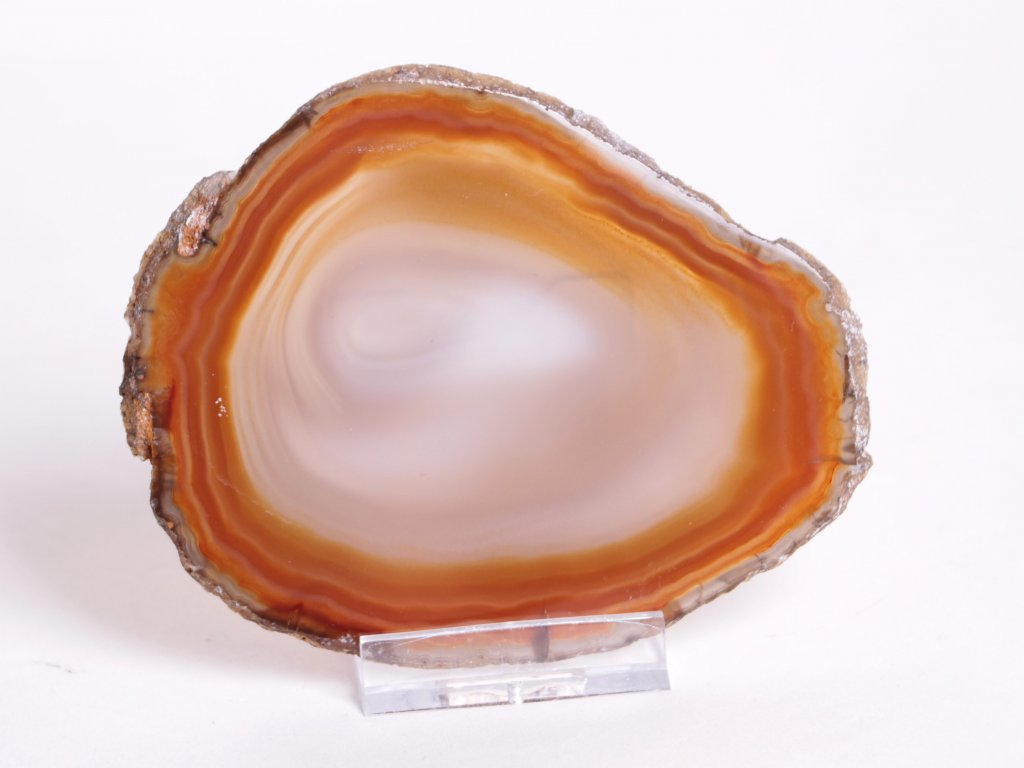 Achátový plát velikost 10 cm + stojánek - Top kvalita - 62