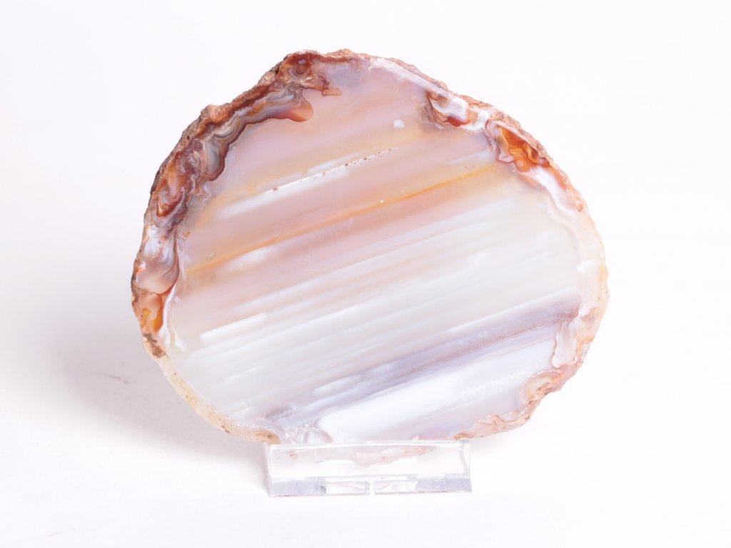 Achátový plát velikost 10 cm + stojánek - Top kvalita - 67