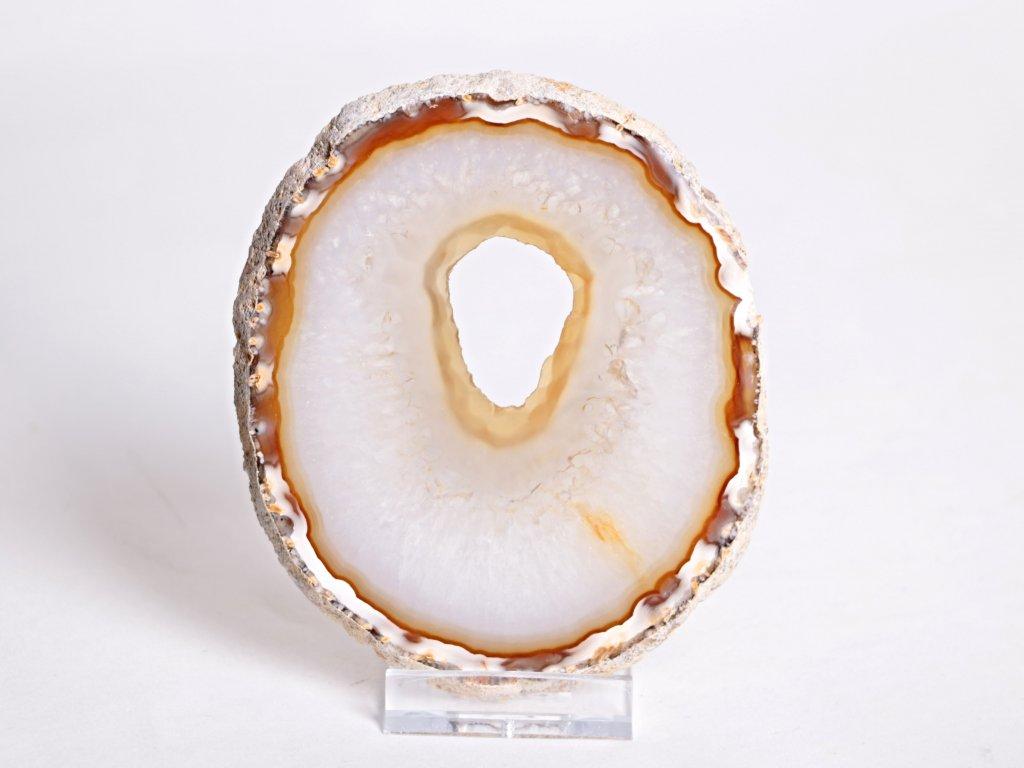 Achátový plát velikost 10 cm + stojánek - Top kvalita - 91  + až 10% sleva po registraci