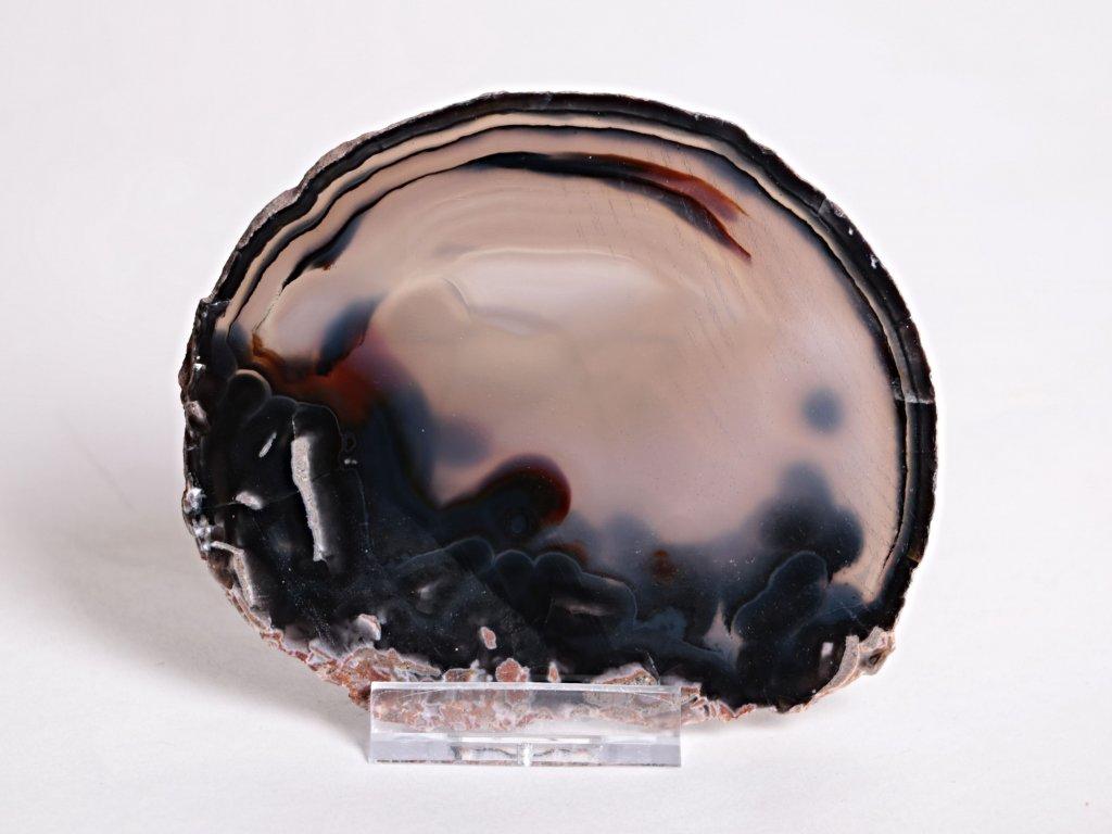 Achátový plát velikost 10 cm + stojánek - Top kvalita - 92