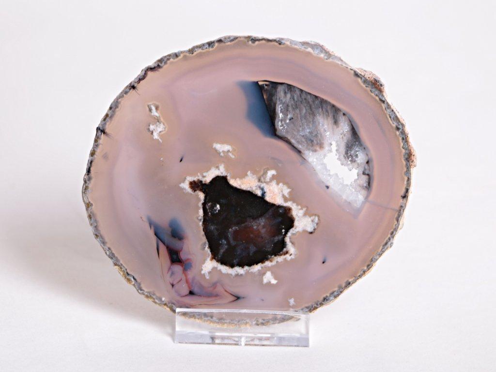 Achátový plát velikost 10 cm + stojánek - Top kvalita - 94