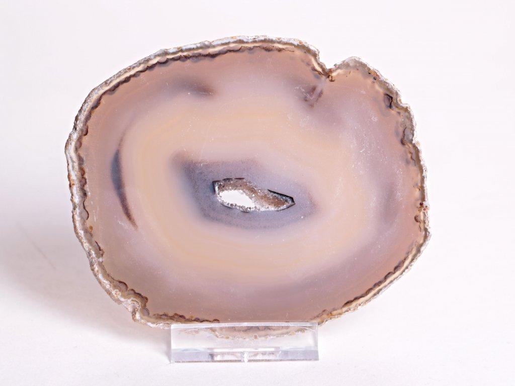 Achátový plát velikost 10 cm + stojánek - Top kvalita - 98