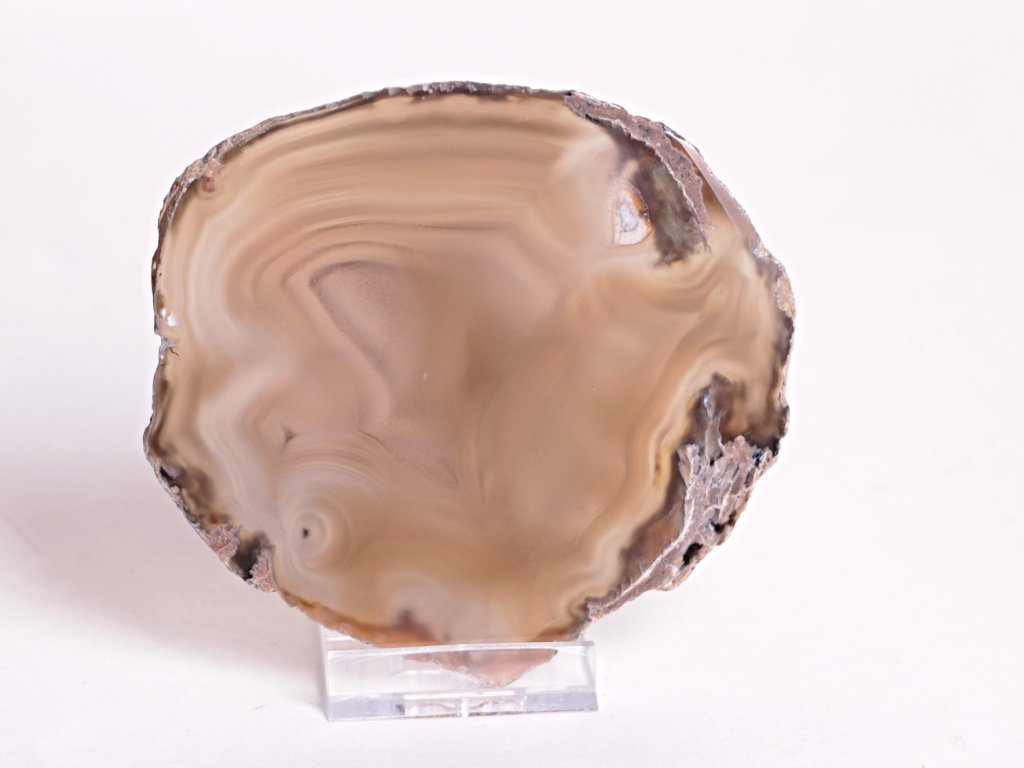 Achátový plát velikost 10 cm + stojánek - Top kvalita - 112