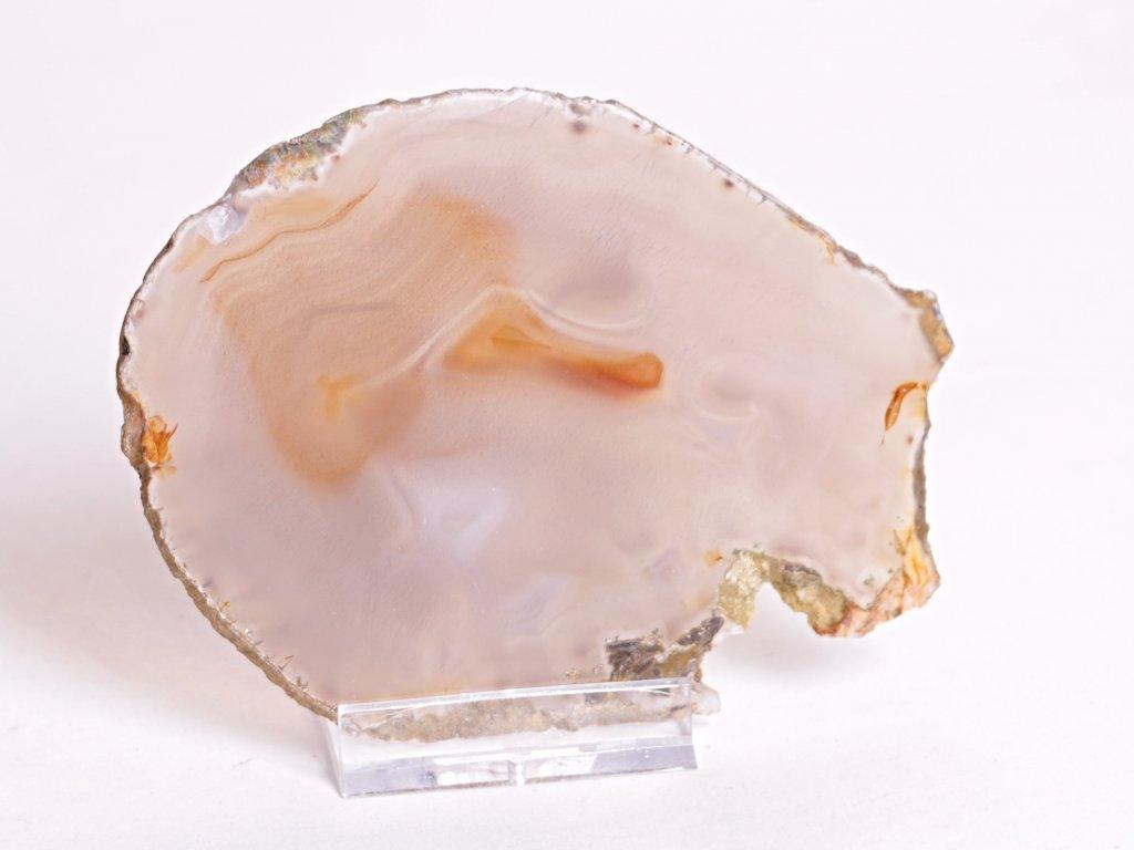 Achátový plát velikost 10 cm + stojánek - Top kvalita - 114