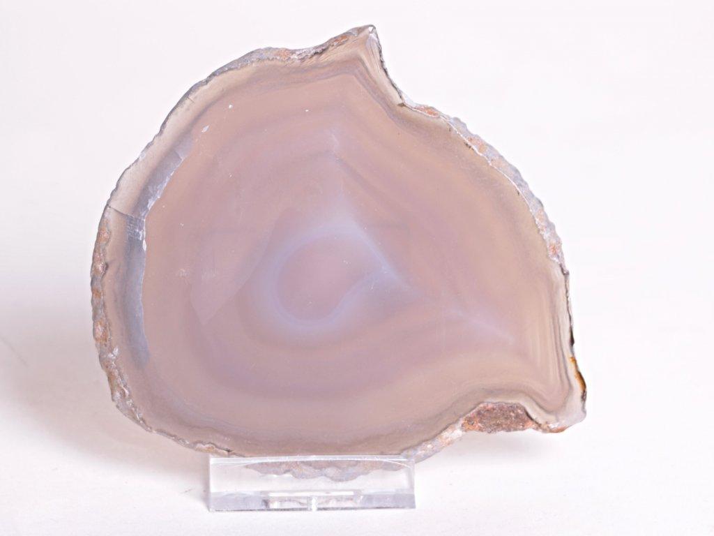 Achátový plát velikost 10 cm + stojánek - Top kvalita - 116