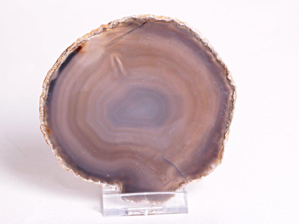 Achátový plát velikost 10 cm + stojánek - Top kvalita - 118