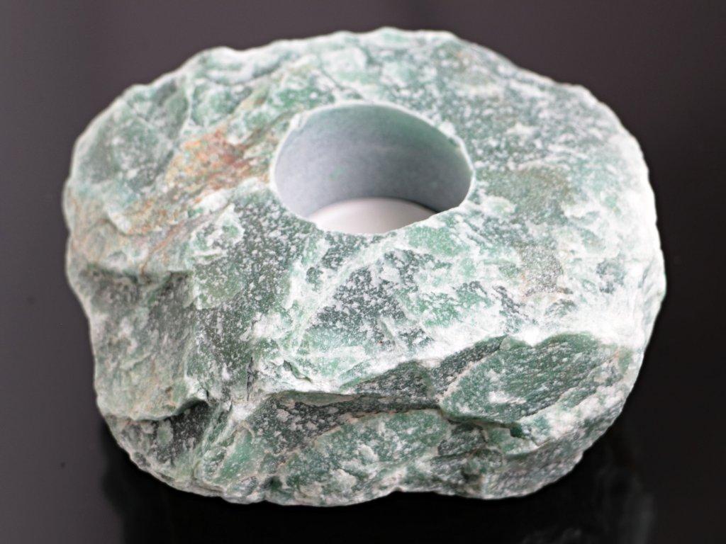 Svícen na svíčku - Avanturin přírodní - 1 - 1.5 kg