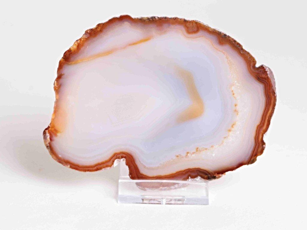 Achátový plát - velikost 11 cm + stojánek - Top kvalita - 130