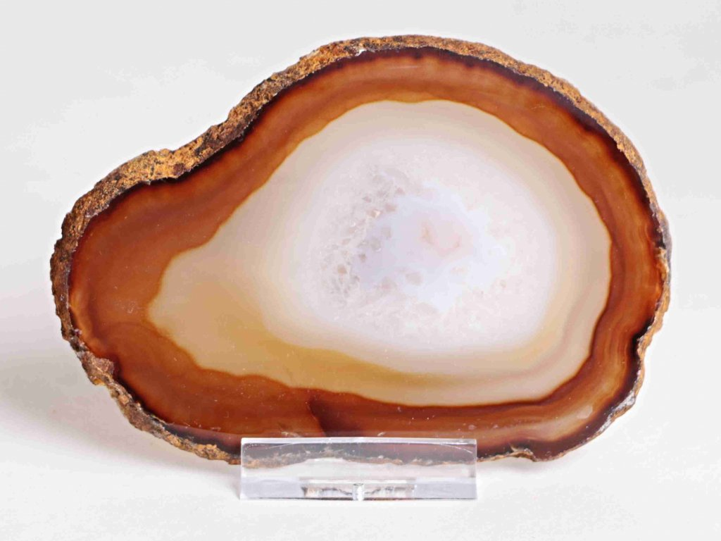Achátový plát - velikost 11 cm + stojánek - Top kvalita - 132