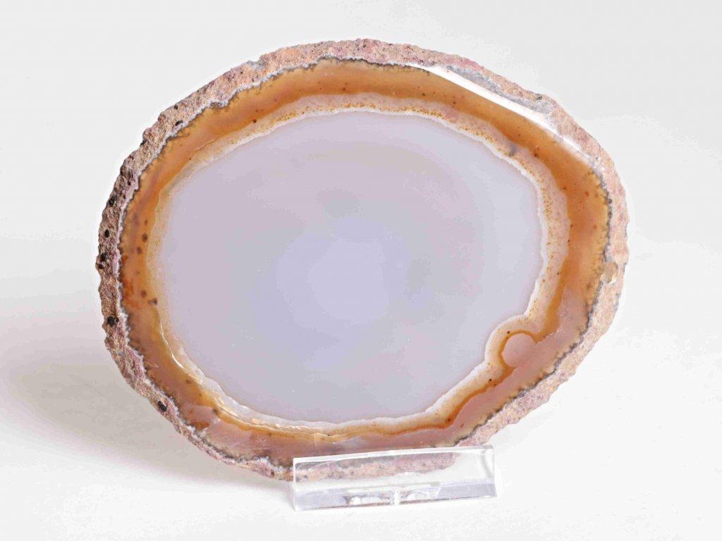 Achátový plát - velikost 11 cm + stojánek - Top kvalita - 152  + až 10% sleva po registraci