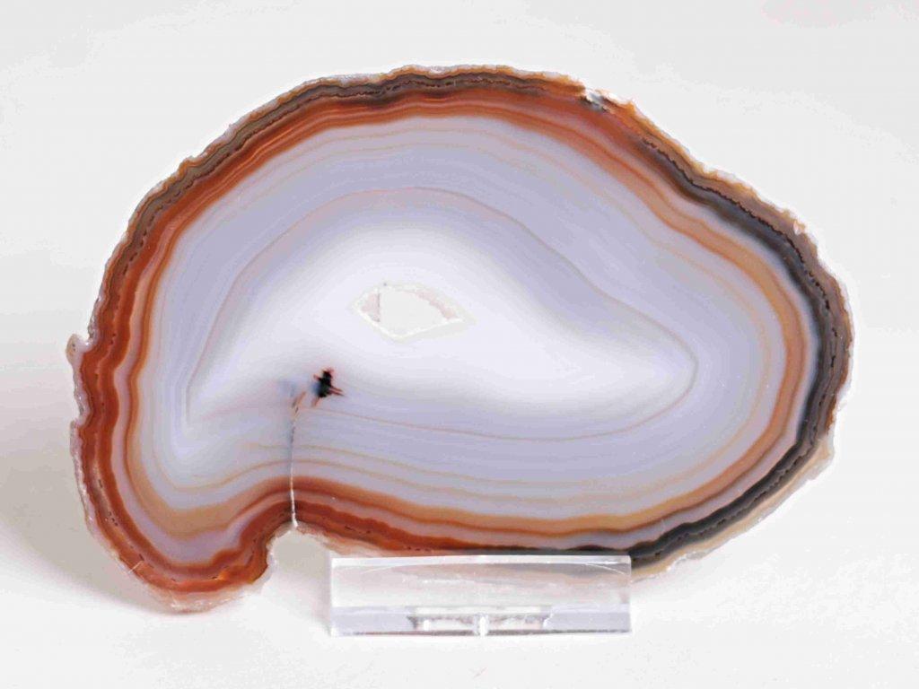 Achátový plát - velikost 11 cm + stojánek - Top kvalita - 157