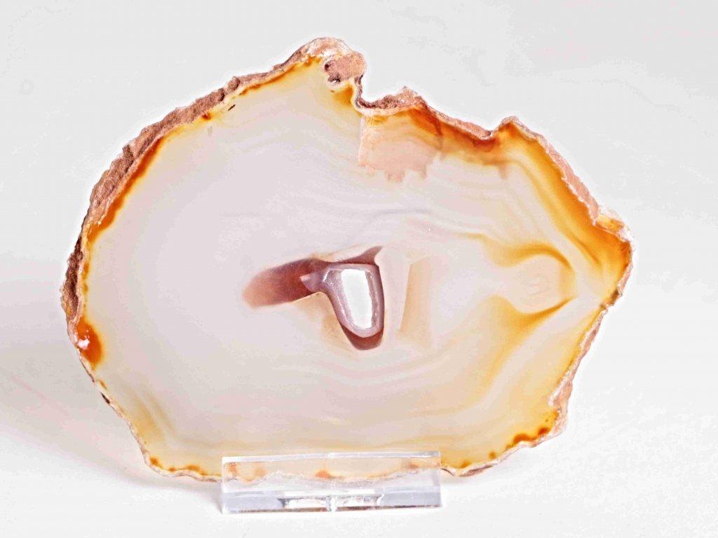 Achátový plát - velikost 11 cm + stojánek - Top kvalita - 159  + sleva 5% po registraci na většinu zboží + dárek k objednávce
