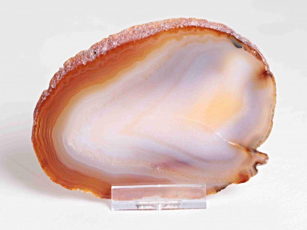 Achátový plát - velikost 11 cm + stojánek - Top kvalita - 163  + až 10% sleva po registraci