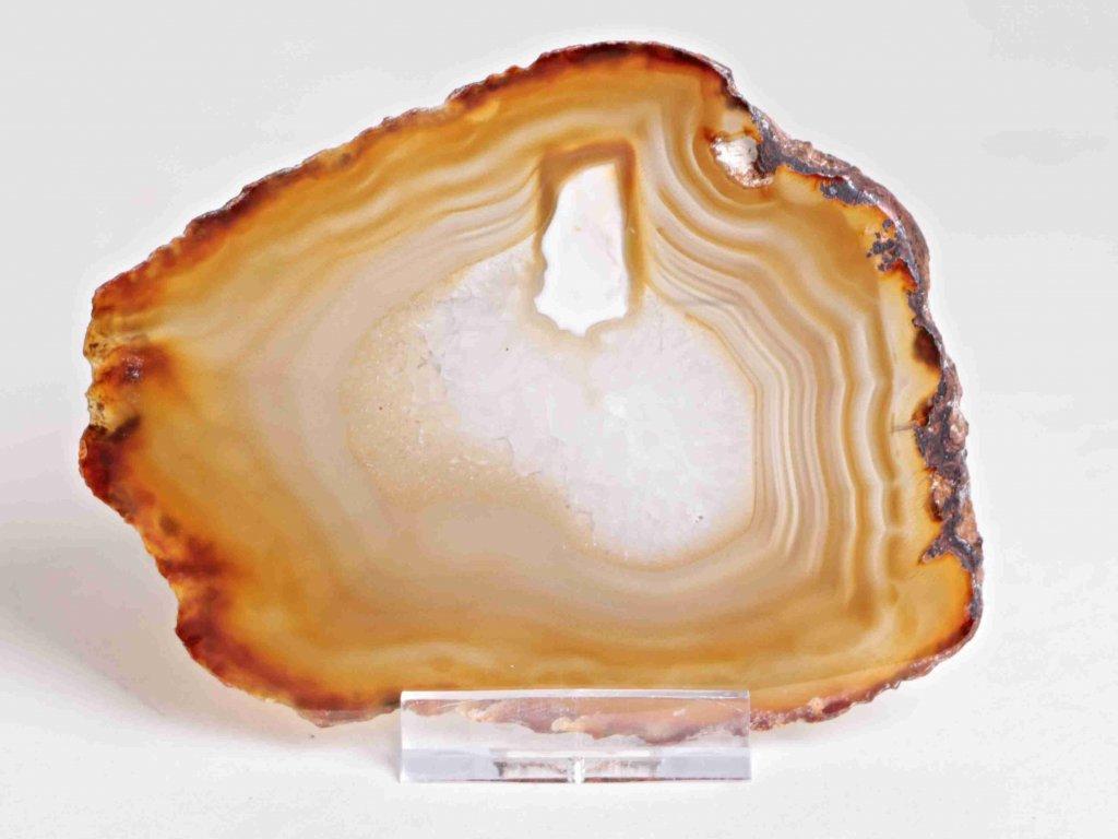 Achátový plát - velikost 11 cm + stojánek - Top kvalita - 175