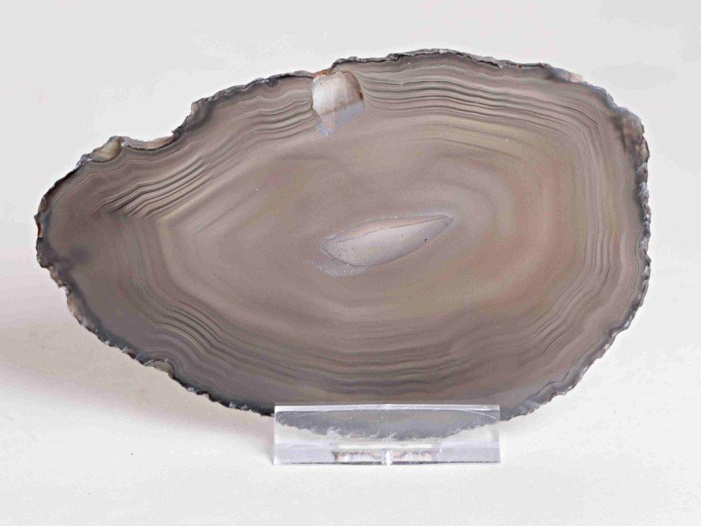 Achátový plát - velikost 11 cm + stojánek - Top kvalita - 177