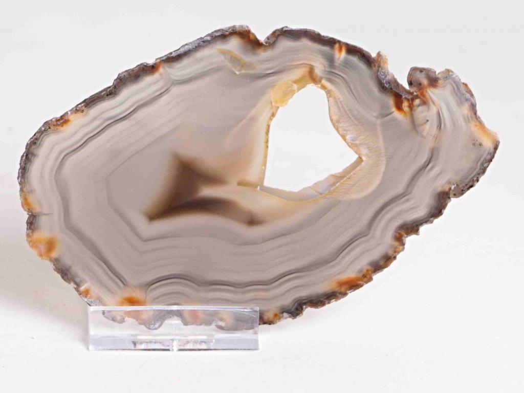 Achátový plát - velikost 12 cm + stojánek - Top kvalita - 184