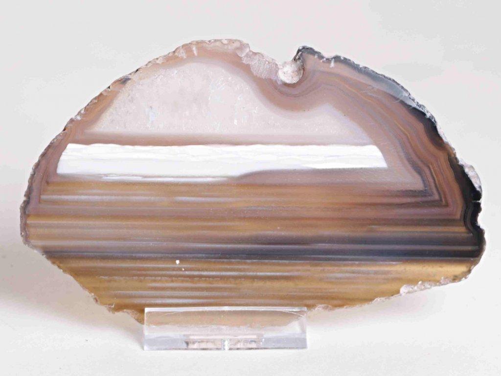 Achátový plát - velikost 12 cm + stojánek - Top kvalita - 186  + sleva 5% po registraci na většinu zboží + dárek k objednávce