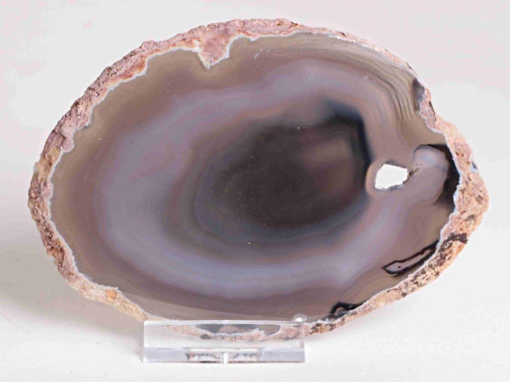 Achátový plát - velikost 12 cm + stojánek - Top kvalita - 187
