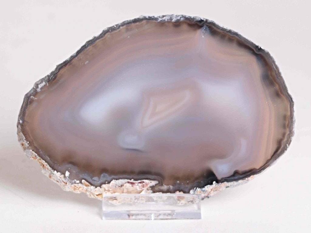 Achátový plát - velikost 12 cm + stojánek - Top kvalita - 191