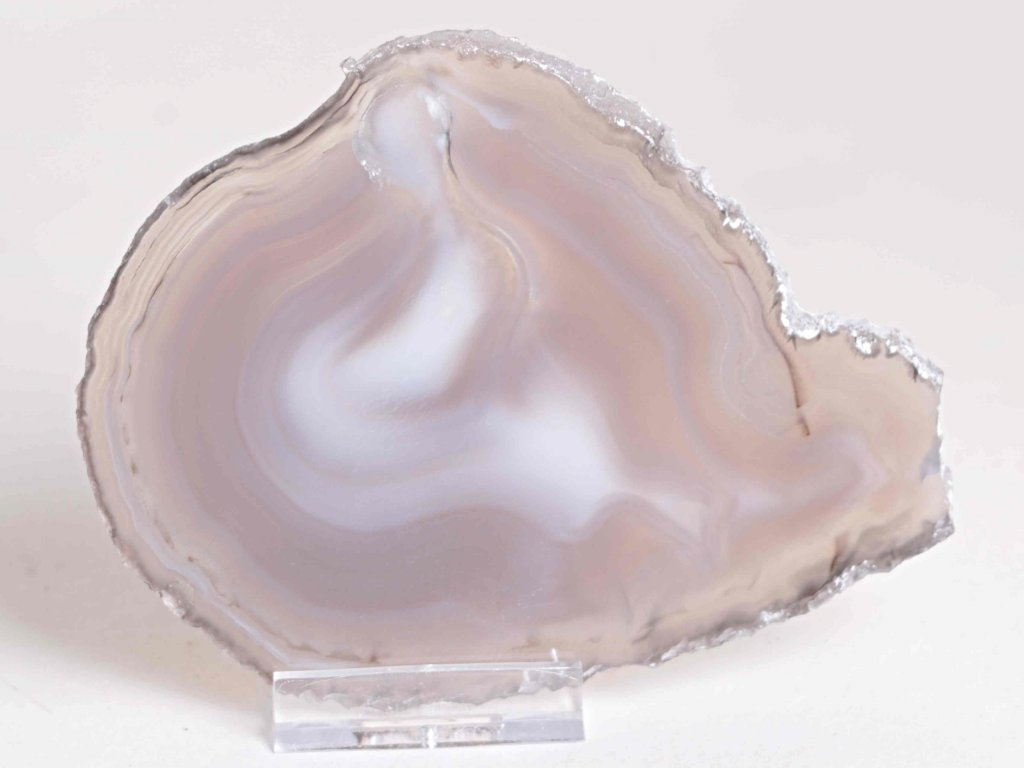 Achátový plát - velikost 12 cm + stojánek - Top kvalita - 192