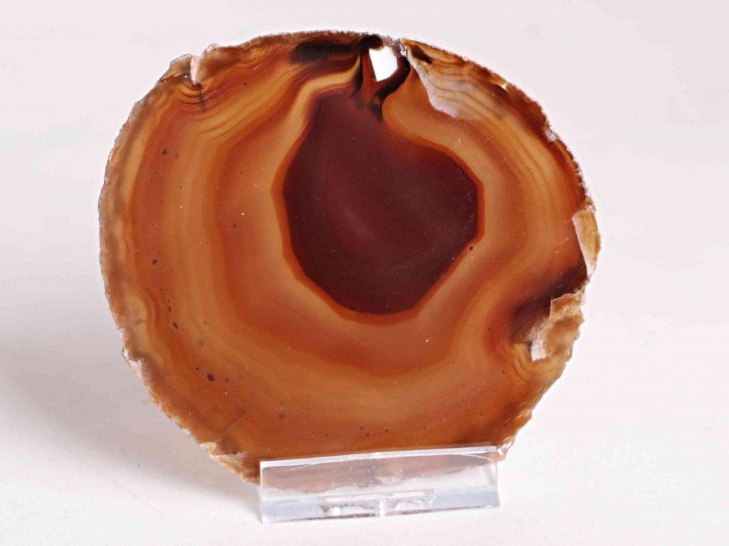 Achátový plát - velikost 9 cm + stojánek - Top kvalita - 217