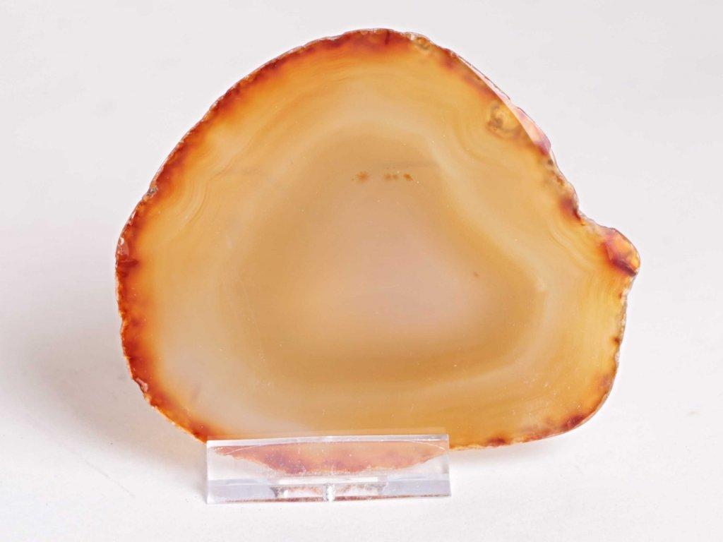 Achátový plát - velikost 9 cm + stojánek - Top kvalita - 224  + sleva 5% po registraci na většinu zboží + dárek k objednávce