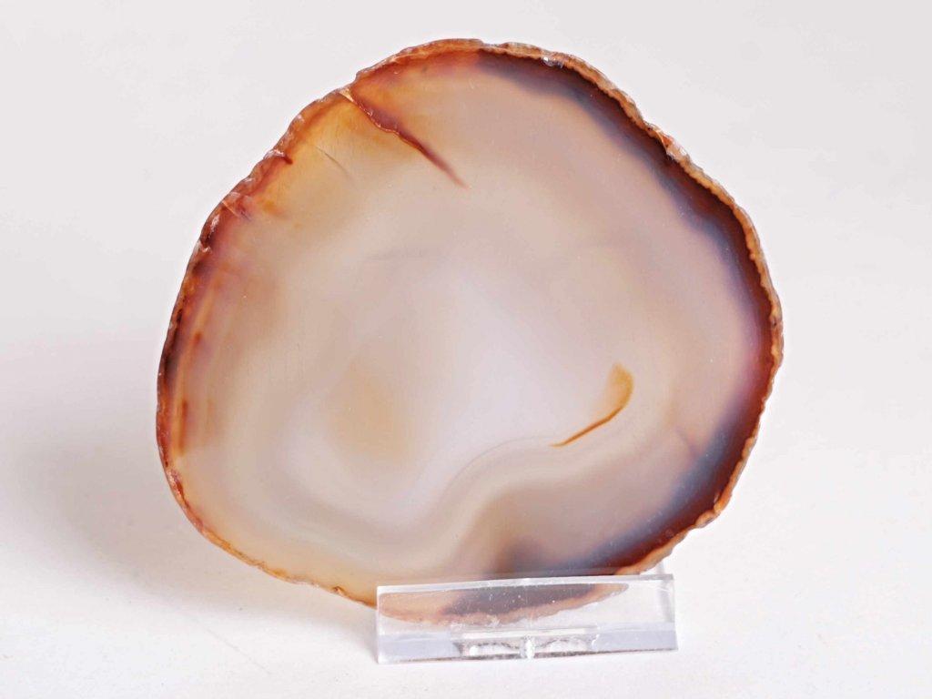 Achátový plát - velikost 9 cm + stojánek - Top kvalita - 227  + až 10% sleva po registraci