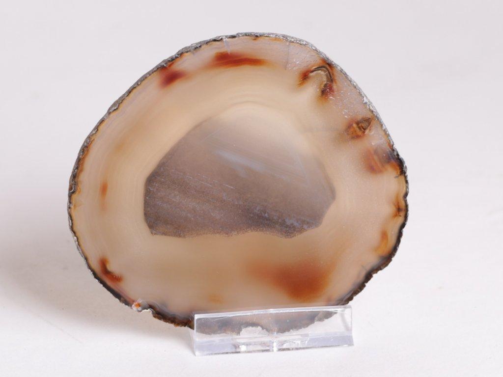 Achátový plát - velikost 9 cm + stojánek - Top kvalita - 240