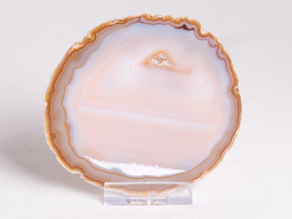 Achátový plát - velikost 9 cm + stojánek - Top kvalita - 244