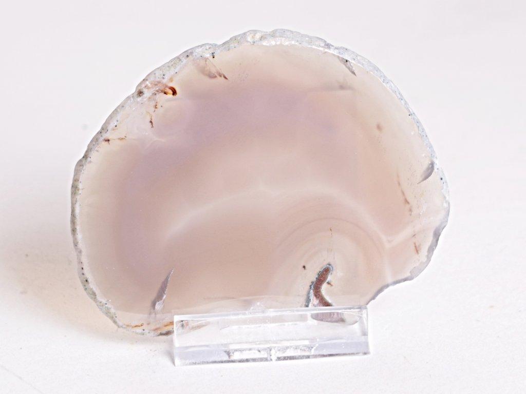 Achátový plát - velikost 8 cm + stojánek - Top kvalita - 258
