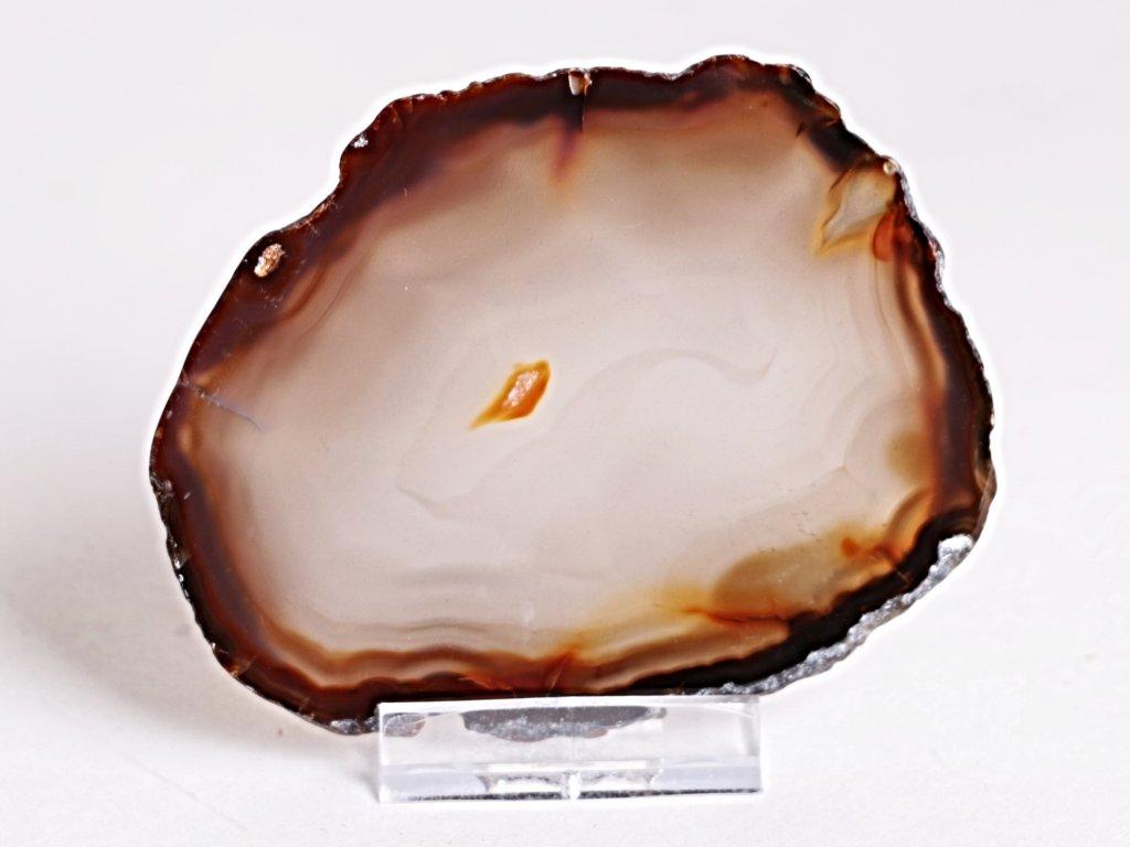 Achátový plát - velikost 9 cm + stojánek - Top kvalita - 265